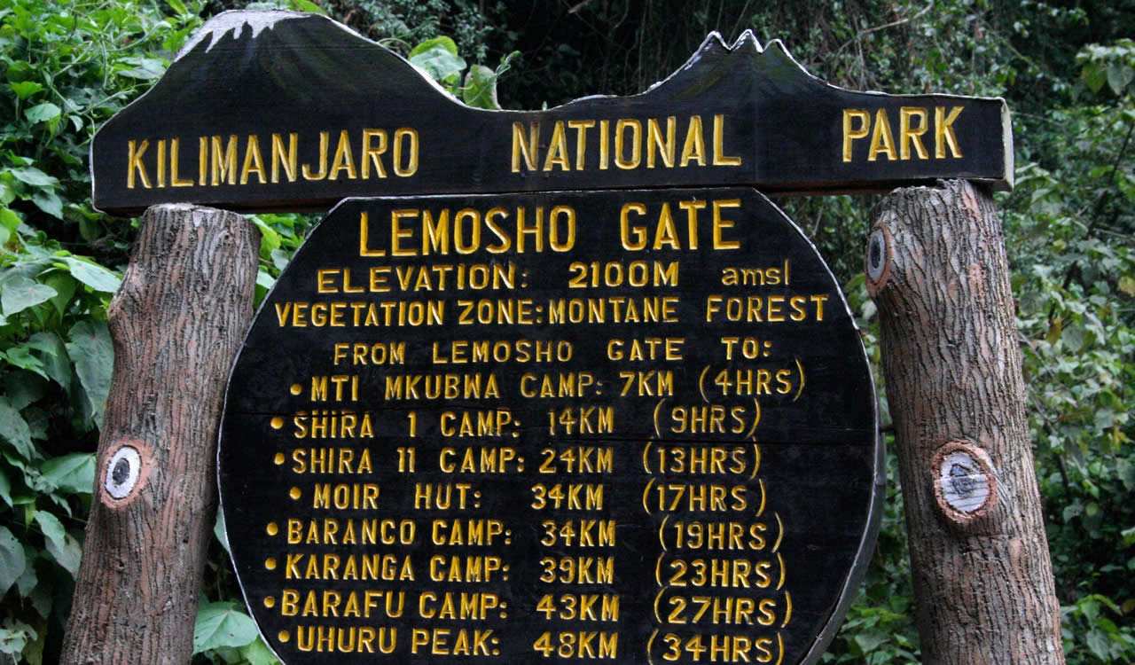 8 Days Kilimanjaro Climb Lemosho Route